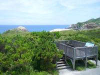 渡嘉敷島の阿波連崎途中の展望台 - 岩場からの景色の方が開けてる?