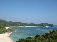 渡嘉敷島の阿波連崎途中の展望台 - 浦の海がキレイに望めます