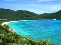 渡嘉敷島の阿波連展望台/クバンダキ展望台 - まさに阿波連ビーチを見るための展望台
