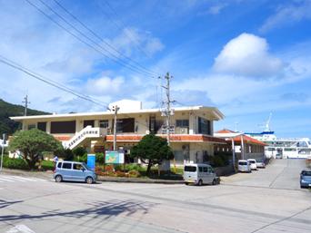 渡嘉敷島のお食事処シーフレンドジュニア/民俗資料館(旧ターミナル)「旧ターミナルです」