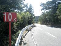 渡嘉敷島の鯨海峡とかしき島一周マラソン大会コース - 大半がこんな高台の山の中