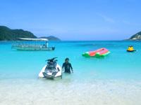 渡嘉敷島ハナレ島のハナレ島/パナリ/シブがき島 - マリンジェットやグラスボートで往来する