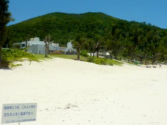 渡嘉敷島のマリンブルーとかしき 海洋研修場「トカシクビーチの研修施設群」