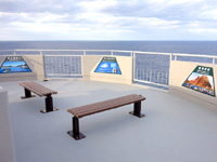 徳之島の犬の門蓋/メガネ岩 - 展望台の上