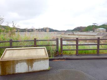 徳之島の徳之島ダム「ダム完成後は案内が撤去されてしまった」
