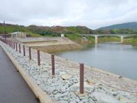 徳之島の徳之島ダム - ダムの上に道路が通っている(架橋部分)