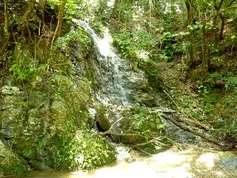 タキンシャ途中の滝