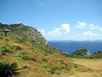 渡名喜島の島尻毛「渡名喜島南端の景勝地です」