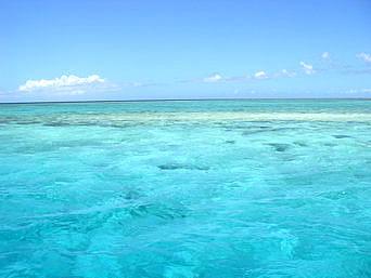八重干瀬海域の海の色