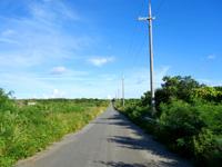 与那国島のシュガーロード/空港近くの裏通り - 与那国島で一番のシュガーロード