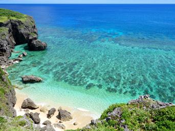 与那国島の六畳ビーチの景色