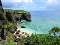 与那国島の六畳ビーチの景色 - ビーチまで降りなくても上からだけで十分!