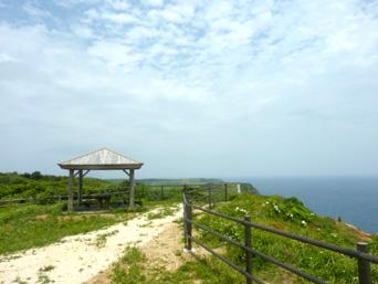与那国島の新川鼻自然遊歩道/海底遺跡の岬「途中の吾妻屋周辺はかなりオープンになっていました」