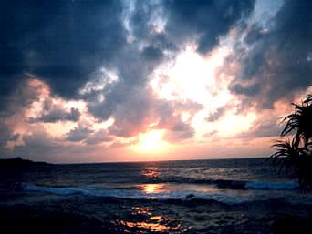 ダンヌ浜の夕日