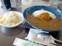 与那国島の与那国空港レストラン 旅果報/たびがふう - 食事系で最安のカレー!味はイマイチ・・・