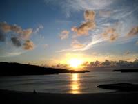 ナンタ浜の夕日
