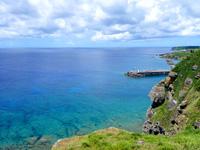与那国島の西崎/いりざき - 与那国島の北側の海が一望できる