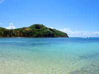 与那国島の西崎/いりざき - ナーマ浜から見た西崎