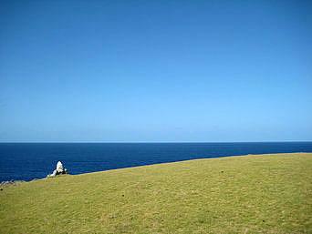 与那国島の馬鼻崎「緑豊かなまさに景勝地です」
