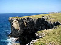 与那国島の馬鼻崎 - 海の近くは断崖絶壁でかなり怖い