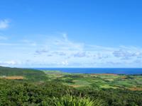 与那国島のインビ岳 - 与那国空港側の景色