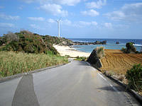 与論島の前浜 - ヨロンマラソンのフルの人しか見れない景色