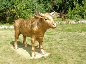 オブジェ/ヤンバルクイナ&黄金牛