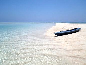 百合ヶ浜へのカヌー