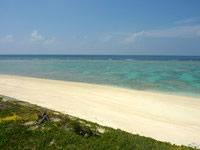 与論島の兼母海岸南/別荘前ビーチ - ビーチはとてもキレイです