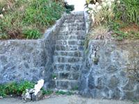 与論島のゆうひの丘/愛の鐘 - この階段を登ると夕日の丘へ