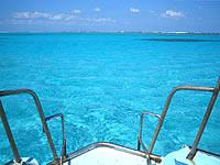 与論島の百合ヶ浜まで行く途中の海