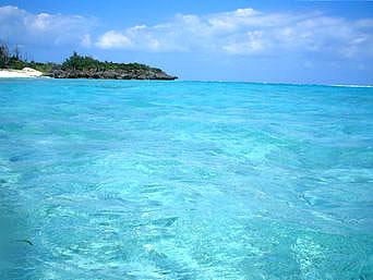 黒花海岸の海の色