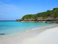 与論島のメーラビビーチ - 基本的に穏やかなビーチです