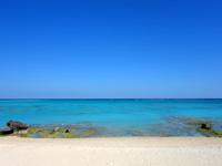 与論島のシーマンズビーチ/中金久バースハウス - 百合ヶ浜も沖に望めるかも?