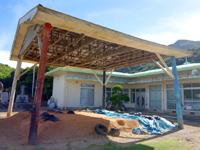 請島の池地集落 - 港への入口