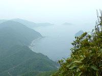 請島の大山ミヨチョン岳 - 頂上からは島が一望できます