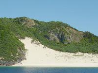 ハンミャ島の砂山 - 一度は滑って降りてみたい