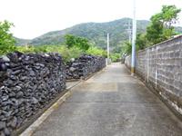 与路島の与路の道 - この道は島の中でも最も広い