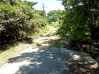 与路島の与路島派遣隊基地跡/砲台跡 - 砲台跡への入口ですが先はまだ長い