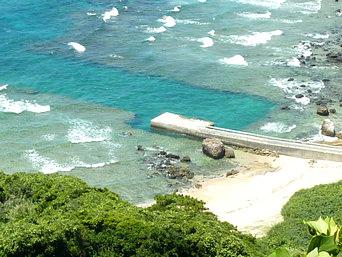 与路島の高原海岸桟橋「高原海岸といえばこの桟橋」