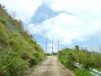 与路島の大縄/ナブリュウ崎への前半の道 - 猛烈な登り坂です