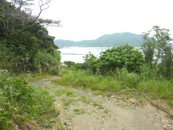 請島の石川道への後半の道「後半は高台の道なので景色が開ける場所もあります」