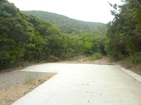 請島の大山登山口への道 - 行き止まり部分で舗装も終了