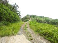 請島の計良治崎への道 - 最後部にはアンテナ施設有り