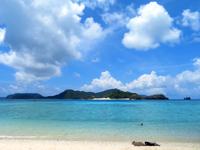 座間味島の阿真ビーチの写真