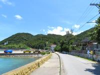 座間味島の阿佐集落の家 - 屋根の赤瓦がとってもきれいです