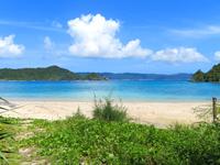 座間味島の阿護の浦のプライベートビーチ