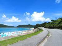 座間味島の阿護の浦 - のどかな景色が広がります