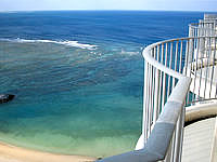 中部のザ・ビーチタワー沖縄 - 21階からの景色は最高でした