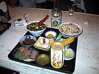 波照間島の民宿たましろ - 食事2(アーサー汁)